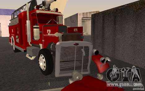 Peterbilt 379 Fire Truck ver.1.0 for GTA San Andreas side view