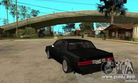 Buick Regal Grand National GNX for GTA San Andreas back left view