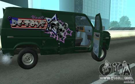 Ford E-150 Short Version v3 for GTA San Andreas back left view