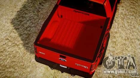 Ford F150 SVT Raptor 2011 for GTA 4 bottom view