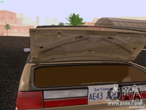 Ford Mustang GT 5.0 Convertible 1987 for GTA San Andreas side view