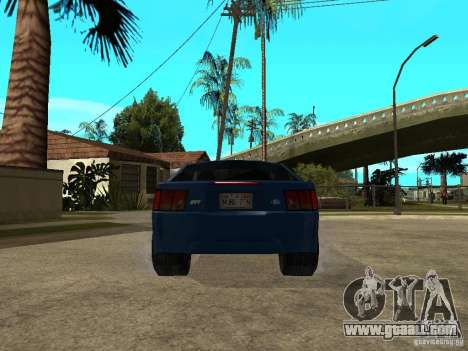 Ford Mustang Cobra R Tuneable for GTA San Andreas back left view
