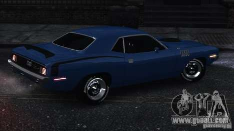Plymouth Hemi Cuda 1971 for GTA 4 back left view