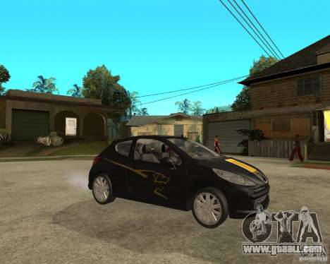 PEUGEOT 207 Griffe LANCARSPORT for GTA San Andreas right view