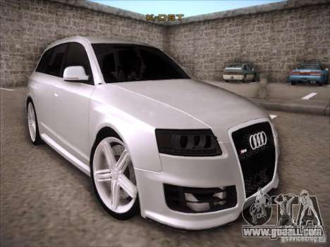 Audi RS6 Avant for GTA San Andreas back view