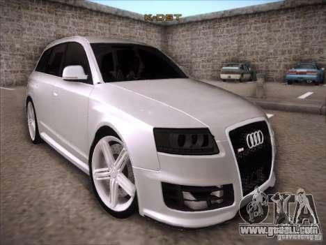 Audi RS6 Avant for GTA San Andreas back view