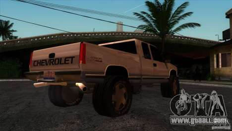 Chevrolet Silverado 1996 for GTA San Andreas right view