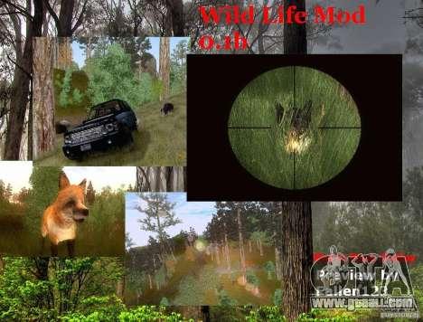 Wild Life Mod 0.1b for GTA San Andreas