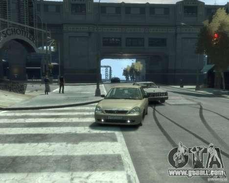 Vaz-2170 Lada Priora for GTA 4 back view