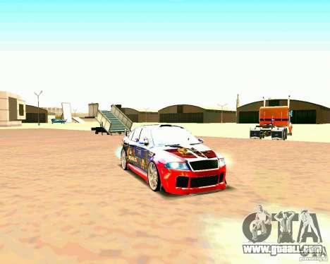Skoda Octavia III Tuning for GTA San Andreas left view