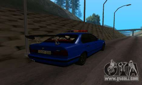 BMW M5 POLICE for GTA San Andreas back left view