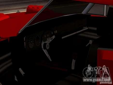 Dodge Charger Daytona 440 for GTA San Andreas back view
