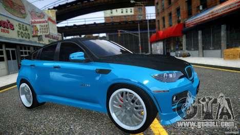 BMW X 6 Hamann for GTA 4 inner view