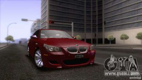 BMW M5 2009 for GTA San Andreas engine