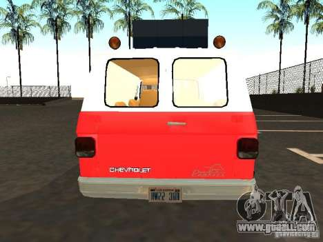 Chevrolet Van G20 LAFD for GTA San Andreas right view