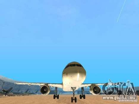Airbus A320 Air France for GTA San Andreas back view