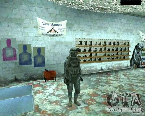 Skin infantryman CoD MW 2 for GTA San Andreas second screenshot