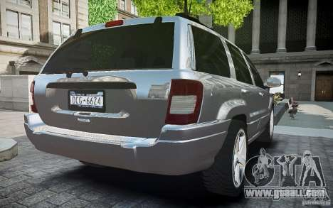Jeep Grand Cheroke for GTA 4 back left view
