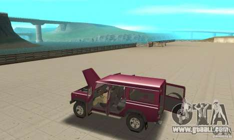 Land Rover Defender 110SW for GTA San Andreas