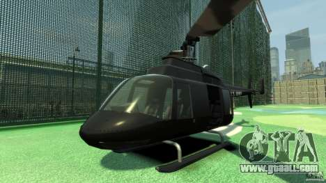 Black U.S. ARMY Helicopter v0.2 for GTA 4 left view