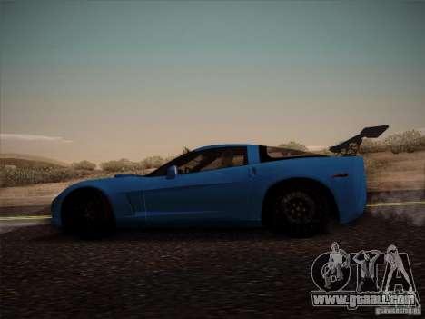 Chevrolet Corvette C6 for GTA San Andreas back left view