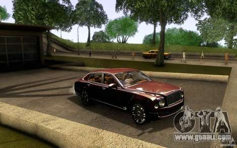 Bentley Mulsanne 2010 v1.0 for GTA San Andreas inner view