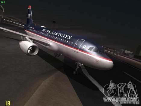 Airbus A319 USAirways for GTA San Andreas