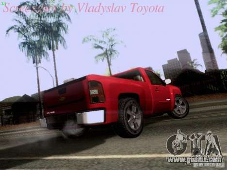 Chevrolet Cheyenne Single Cab for GTA San Andreas right view