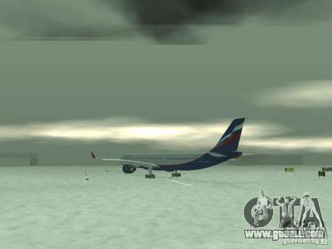 The Airbus A330-300 Aeroflot for GTA San Andreas right view