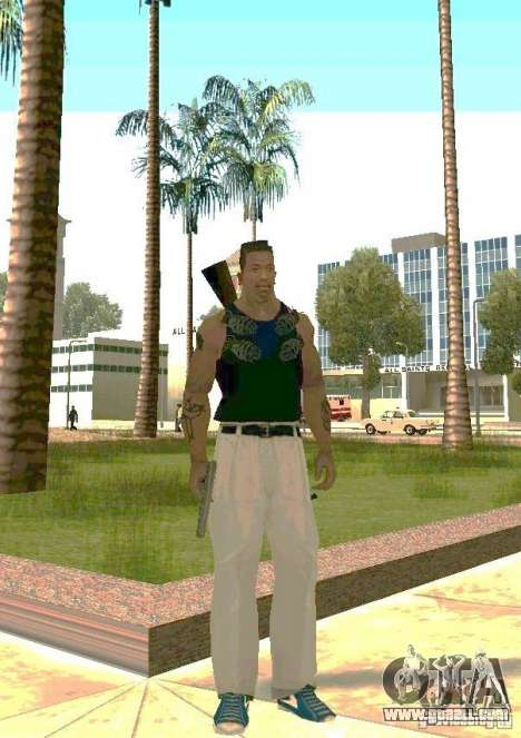 Weapons on body for GTA San Andreas second screenshot