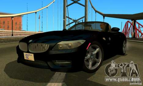 BMW Z4 2010 for GTA San Andreas back view