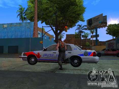 Ford Crown Victoria Police Patrol for GTA San Andreas back left view