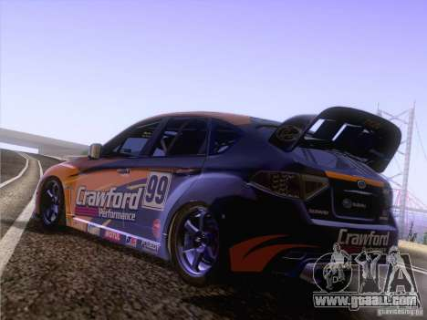 Subaru Impreza WRX STI N14 Gymkhana for GTA San Andreas right view