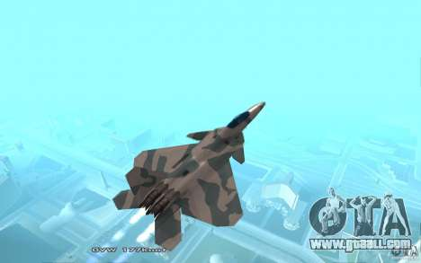 F/A-22 Velociraptor for GTA San Andreas back left view