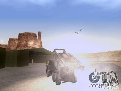 M142 HIMARS Artillery for GTA San Andreas back view