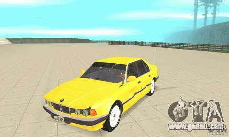 BMW 750I E32 for GTA San Andreas inner view