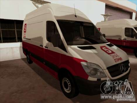 Mercedes-Benz Sprinter 5 Channel for GTA San Andreas back left view