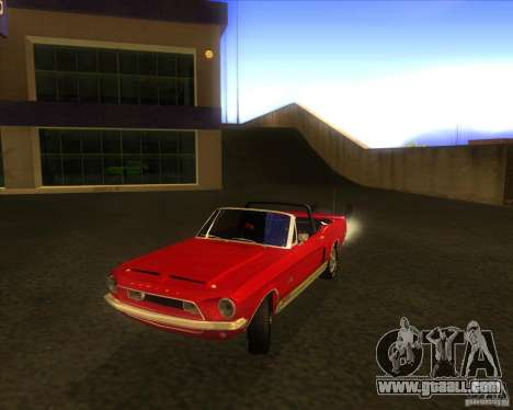 Shelby GT500KR convertible 1968 for GTA San Andreas back left view