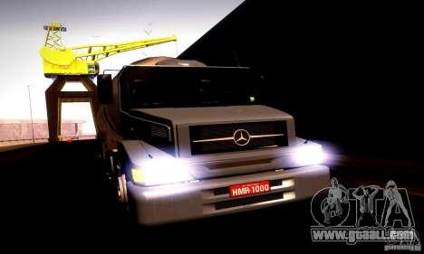 Mercedes-Benz L1620 Tanque for GTA San Andreas back left view