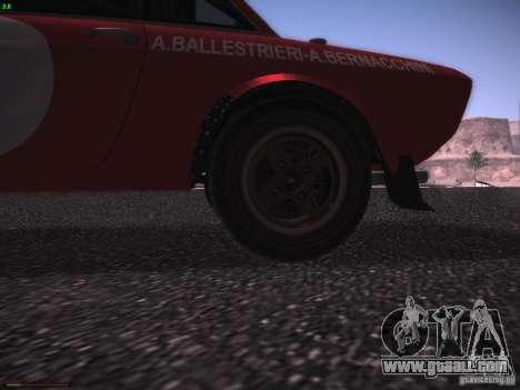 Lancia Fulvia Rally Marlboro for GTA San Andreas inner view