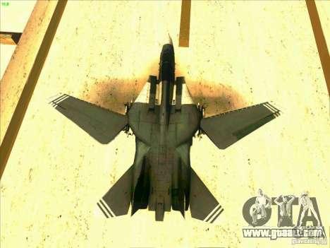 F-14 Tomcat Schnee for GTA San Andreas interior