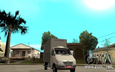 Mercedes-Benz Sprinter Truck for GTA San Andreas back view
