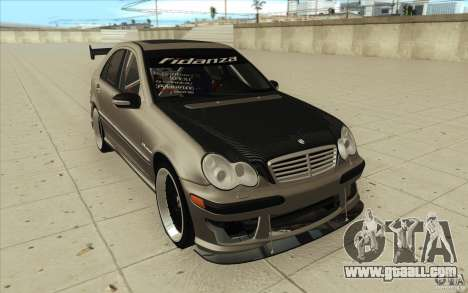 Mercedes-Benz C32 AMG Tuning for GTA San Andreas back view