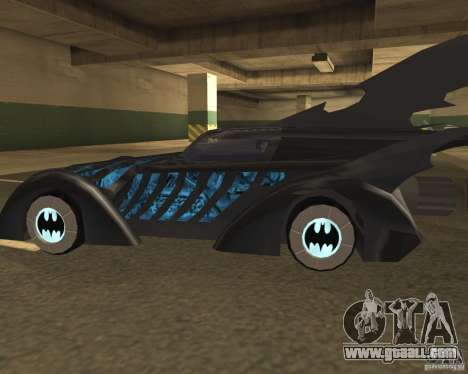 Batmobile 1995 for GTA San Andreas back left view
