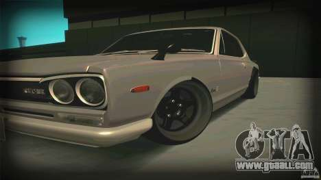 Nissan Skyline 2000GT-R JDM Style for GTA San Andreas left view