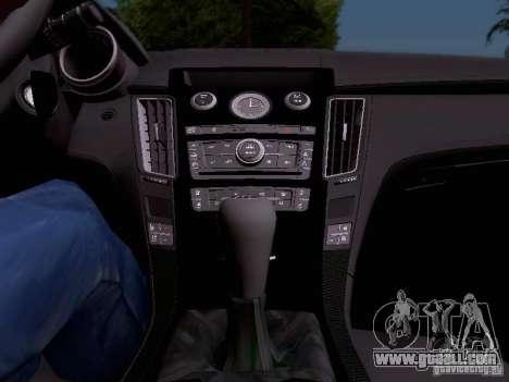 Cadillac CTS-V 2009 for GTA San Andreas bottom view