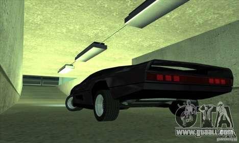 Dodge M4S Turbo Interceptor Wraith 1984 for GTA San Andreas back left view