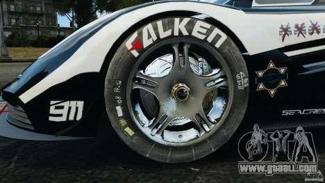 McLaren F1 ELITE Police [ELS] for GTA 4 back view