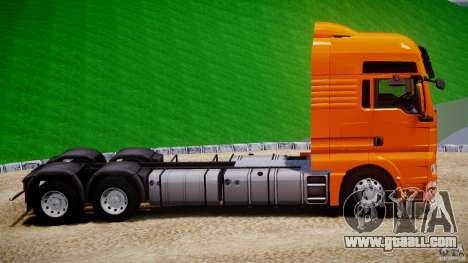 MAN TGX V8 6X4 for GTA 4 inner view