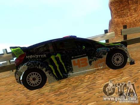 Ford Fiesta RS WRC 2012 for GTA San Andreas left view
